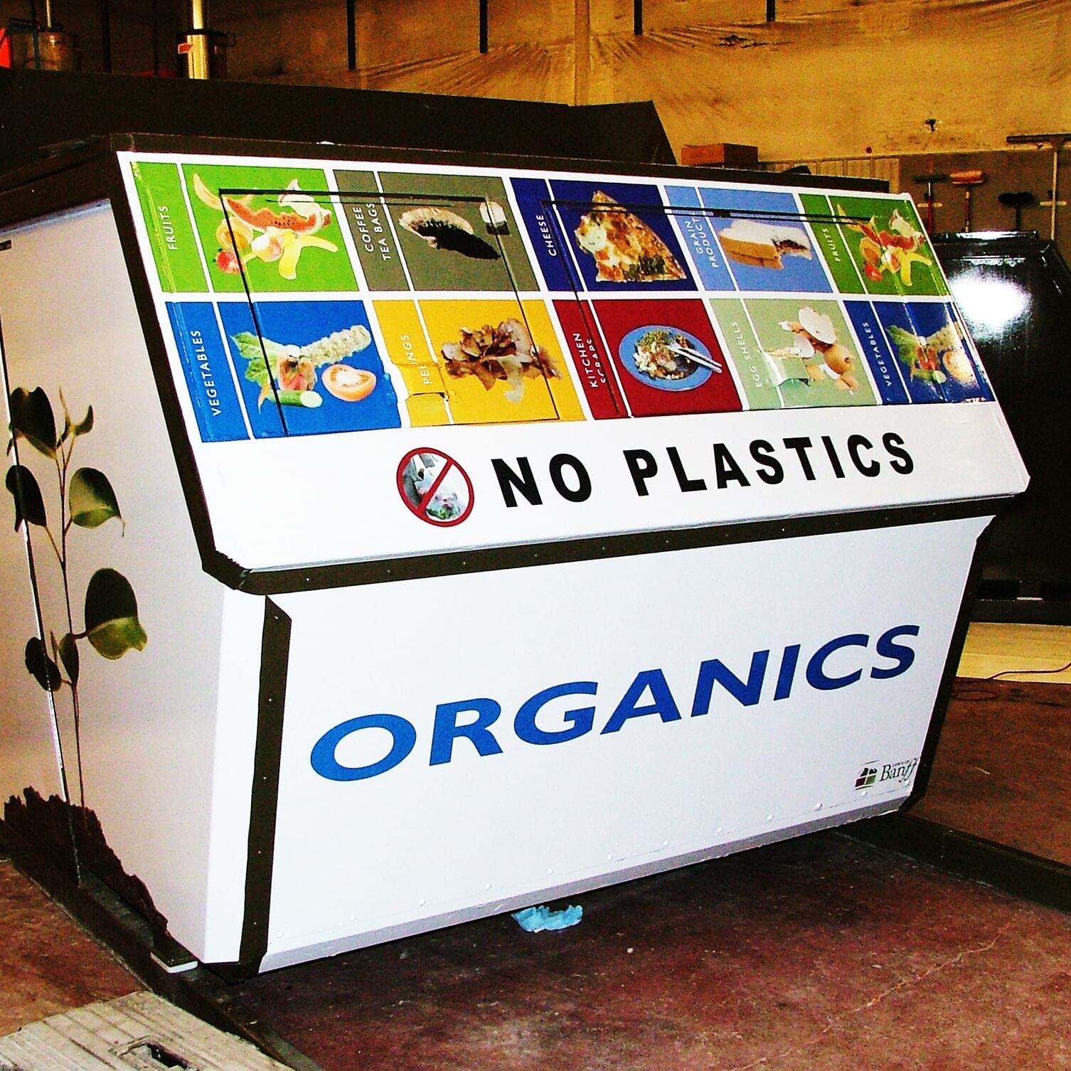 Recycling bin wrap
