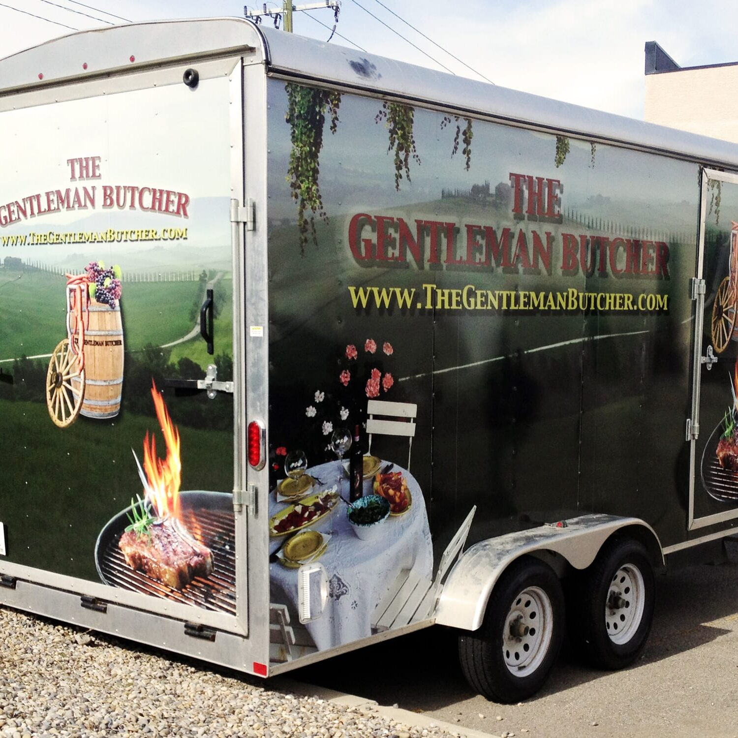 Gentleman butcher trailer wrap